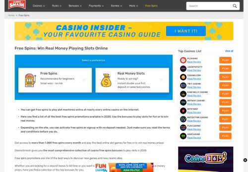 Vip Casino Directory for Free Spins to Win Real Money Online Collect and Play analysis lucky room staff werden casino