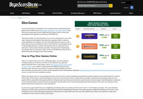 Vip Casino Directory for Dice Games - Roll Your Way to Big Wins at Online Casinos Using Dice analysis rivers directory columbus no vip
