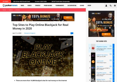 Vip Casino Directory for Top Sites to Play Online Blackjack for Real Money in 2020  PokerNews analysis sign casino vip vip casino