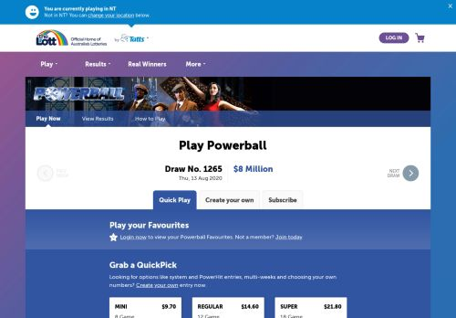 Vip Casino Directory for Powerball  Play Online  Australia39s Official Lotteries  the Lott analysis up vip vip host vip
