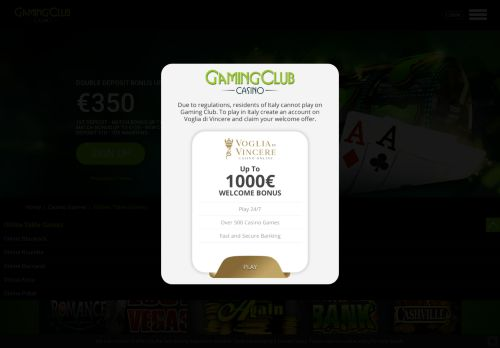 Vip Casino Directory for Table Games  Play Casino Table Games Online  Gaming Club analysis casino vip directory monte vip