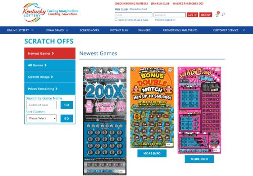 Vip Casino Directory for Scratch-Offs Newest Games  KY Lottery analysis crossword turpin sign room points