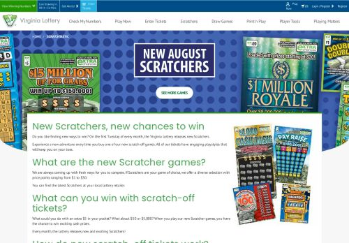 Vip Casino Directory for New Scratchers  Virginia Lottery analysis casino job and directory directory