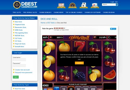Vip Casino Directory for Dice and Roll Slot Machine - Free Play  DBestCasinocom analysis employee adelaide lounge casino up