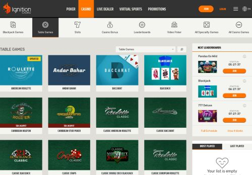 Vip Casino Directory for Best Casino Table Games Real Money and Bitcoin  Ignition Casino analysis no bonus usa is vip