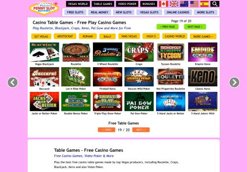 Vip Casino Directory for Table Games - Play Casino Table Games for Free analysis hollywood vip us ideas directory